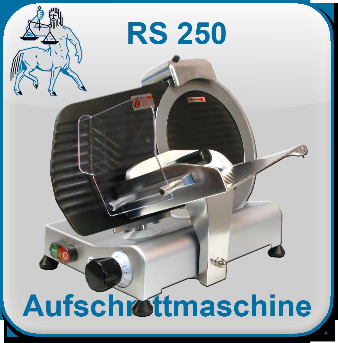 Aufschnittmaschine Allesschneider RS 250 Teflon | {Allesschneider 92}