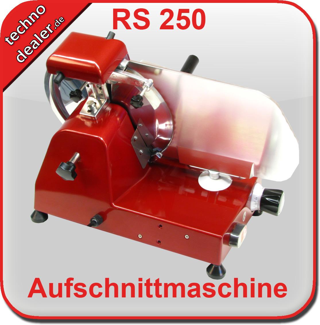 Aufschnittmaschine RS 250 rot