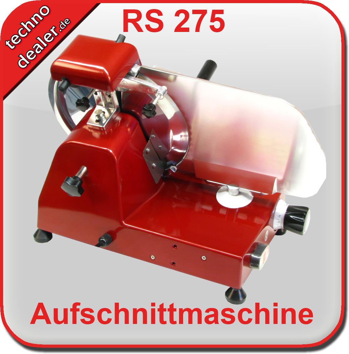 Aufschnittmaschine RS 275 rot